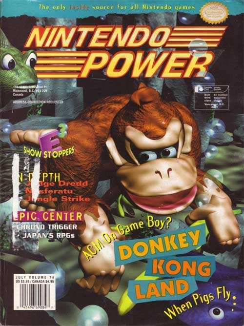 Nintendo Power Magazine Volume 74 Donkey Kong Land