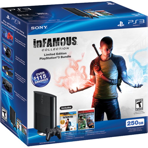 Sony PlayStation 3 Super Slim 250GB Infamous Collection Bundle