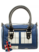 Doctor Who Tardis Mini Satchel with Metal Charm