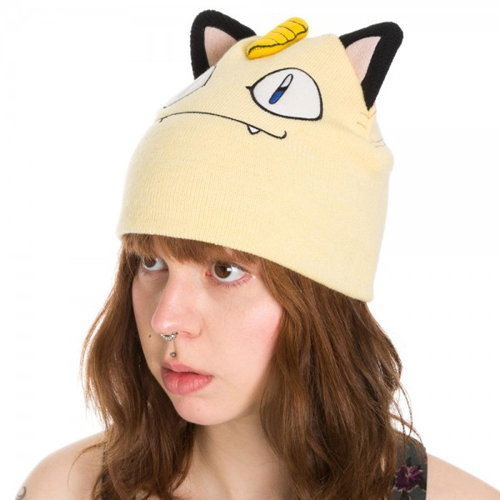 Pokemon Meowth Bigface Beanie