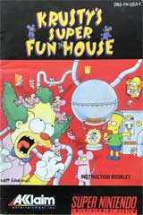 Krusty's Super Fun House (Instruction Manual)