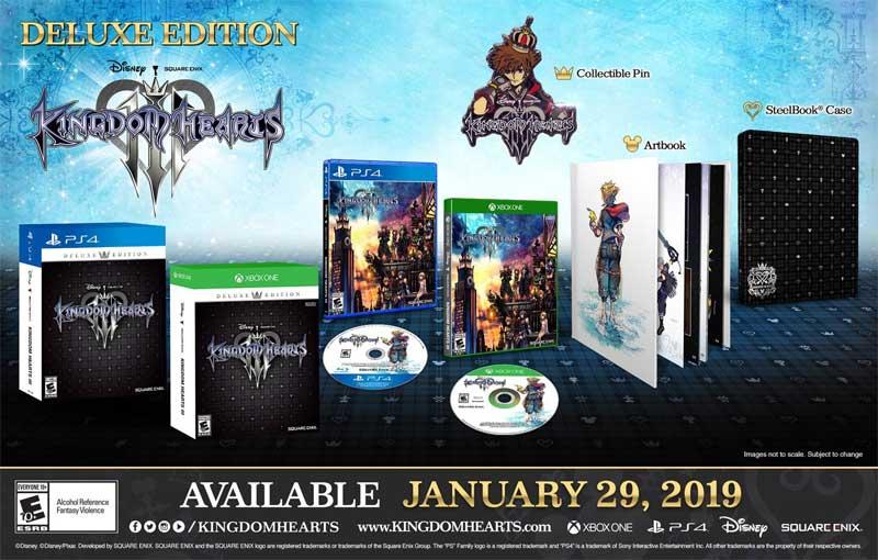 Kingdom Hearts 3 Deluxe Edition bonus items