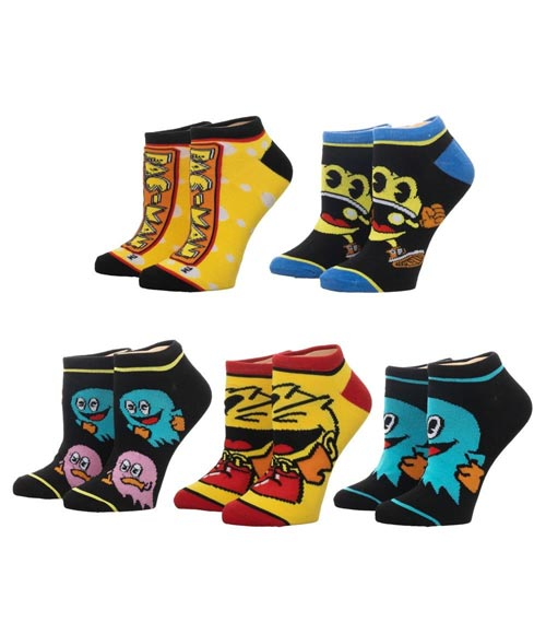 Pac-Man Ankle Socks 5 Pack