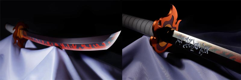 Demon Slayer Kyojuro Nichirin Sword Proplica extra img