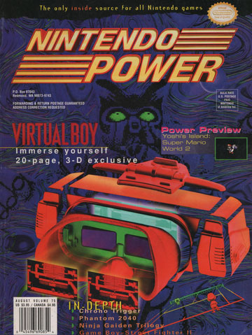 Nintendo Power Magazine Volume 75 Virtual Boy