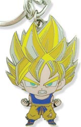 Dragon Ball Z Metal SD Super Saiyan Goku Keychain