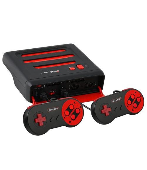 Super Retro Trio NES/SNES/Genesis 3-in-1 Console Red/Black