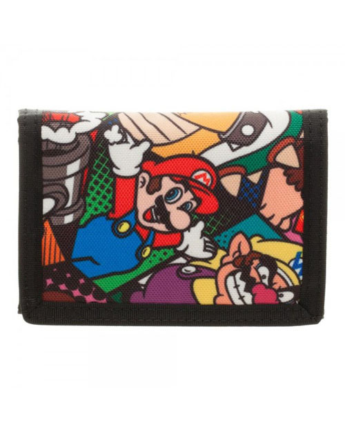 Super Mario Tri-Fold Velcro Wallet