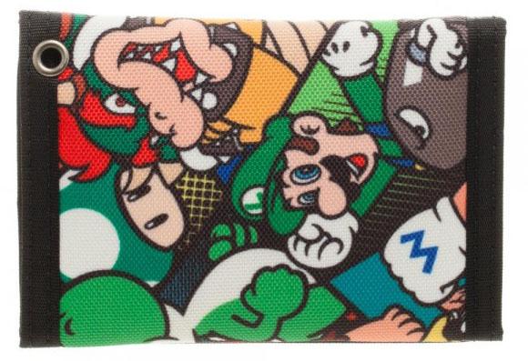Super Mario Tri Fold Velcro Wallet
