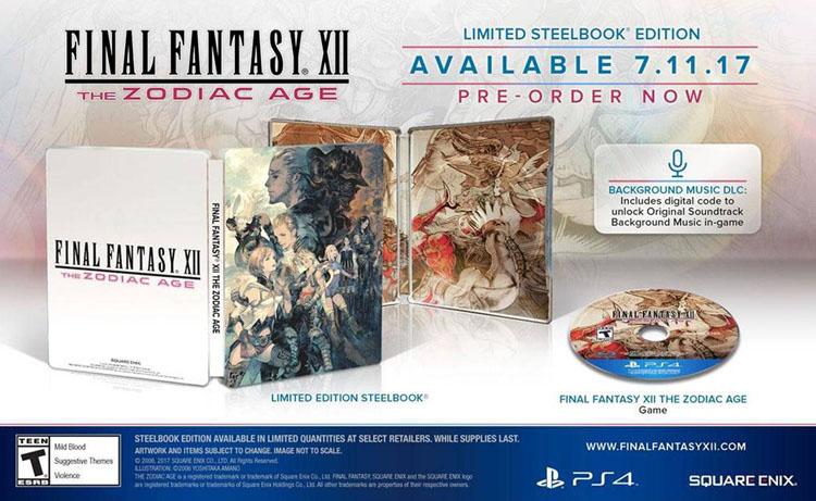Final Fantasy XII Zodiac Age Steelbook Ed