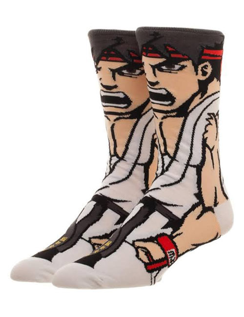 Street Fighter Ryu 30th Anniversary 360 Crew Socks
