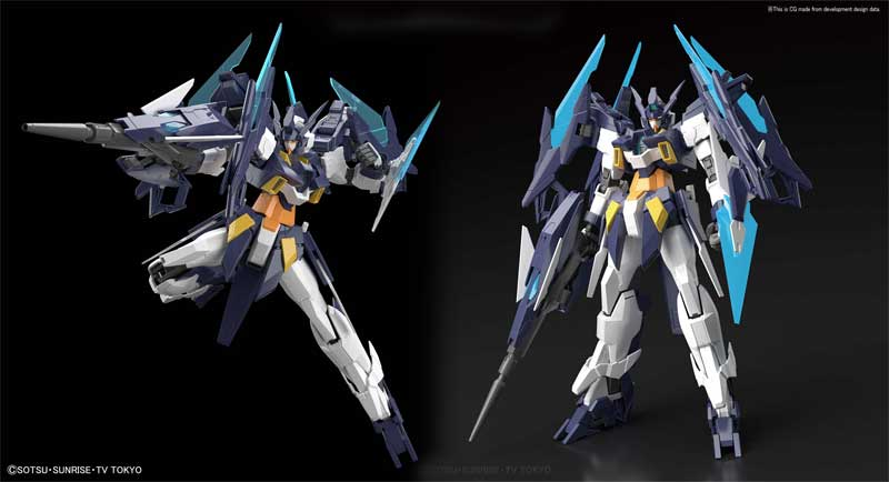 Gundam Age II Magnum MG Model Kit additional poses and angles