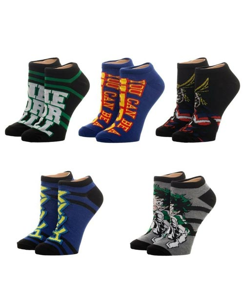 My Hero Academia Ankle Socks 5 Pack