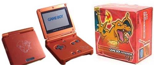 Nintendo Game Boy Advance SP Pokemon Center Charizard Edition