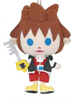 Kingdom Hearts Avatar Plush Sora Keychain