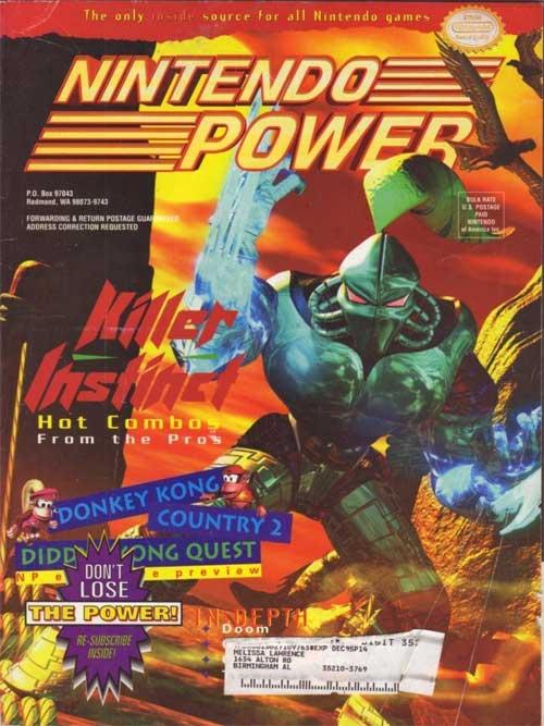 Nintendo Power Magazine Volume 76 Killer Instinct