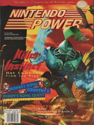Nintendo Power Magazine Volume 76 Killer Instinct