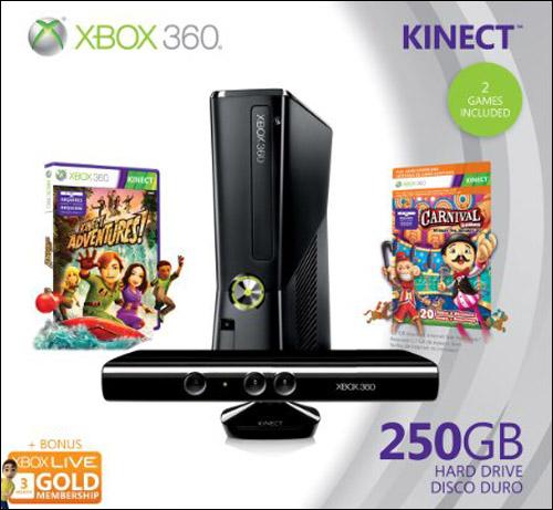 Microsoft Xbox 360 Slim 250GB Holiday Kinect Bundle