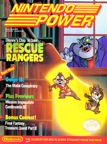 Nintendo Power July/August 1990 Rescue Rangers