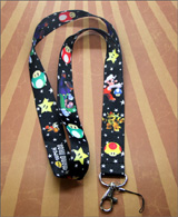 Nintendo New Super Mario Bros Lanyard Black