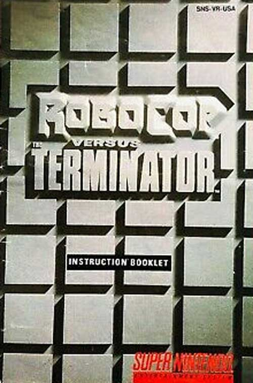 Robocop VS. the Terminator (Instruction Manual)
