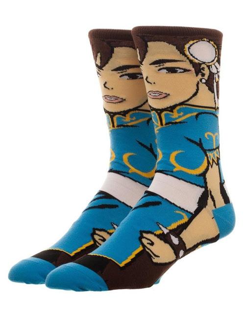 Street Fighter Chun Li 30th Anniversary 360 Crew Socks