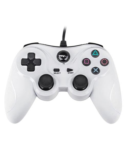 PlayStation 3 Wired Controller White by TTX