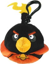 Angry Birds Space Black Bomb Bird Plush Backpack Clip
