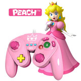 Wii U Peach Wired Fight Pad