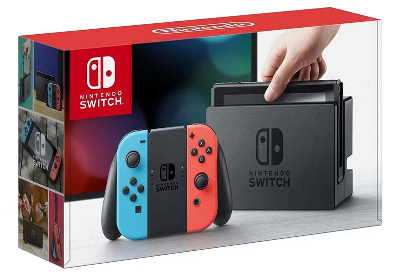 Nintendo Switch Neon Blue Redy Joy-Con box