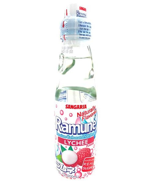 Ramune Lychee Carbonated Soft Drink