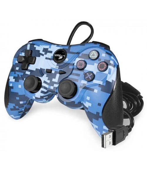 PlayStation 3 Wired Controller Blue Digi Camo by TTX
