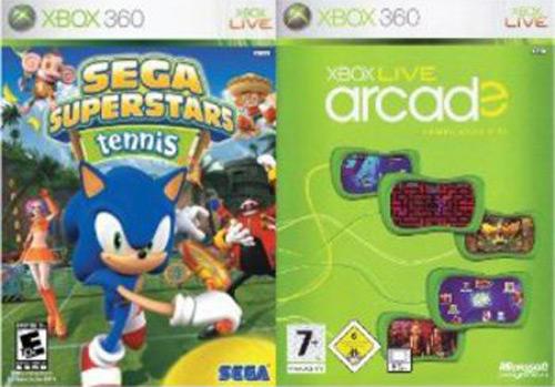 Buy Xbox 360 Sega Superstars Tennis & Xbox Live Arcade Double Pack ...