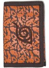 Naruto Shippuden Orange Chakra Konoha Symbol Tri-Fold Velcro Wallet