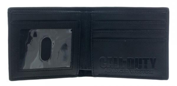 Call of Duty Advanced Warfare Black Metal Badge Bi-Fold Wallet