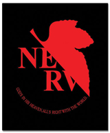 Evangelion Nerv Logo Throw Blanket