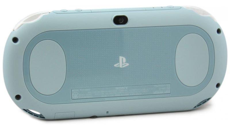 PlayStation Vita System back (Light Blue/White)