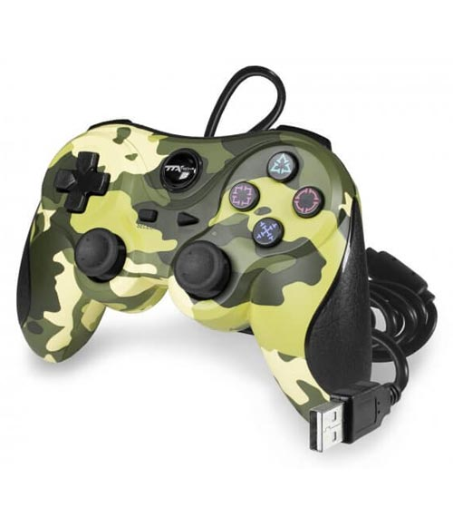 PlayStation 3 Wired Controller Green Camouflage by TTX