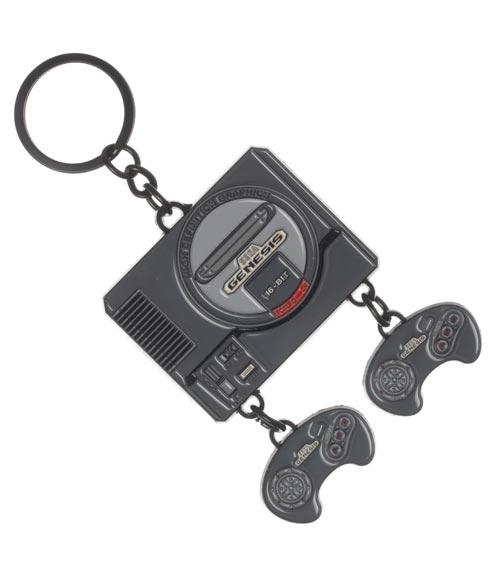 Sega Genesis Console Keychain