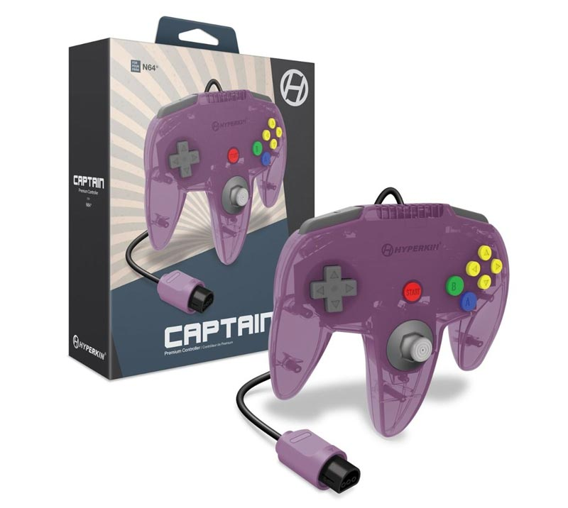 N64 Captain Premium Controller Amethyst Purple Hyperkin extra img