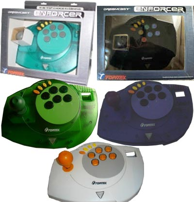Enforcer arcade sticks in different colors