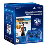 PS3 Dualshock 3 Blue)/inFAMOUS Collection Bundle