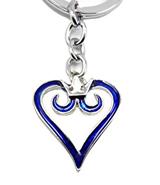 Kingdom Hearts Blue Logo Keychain