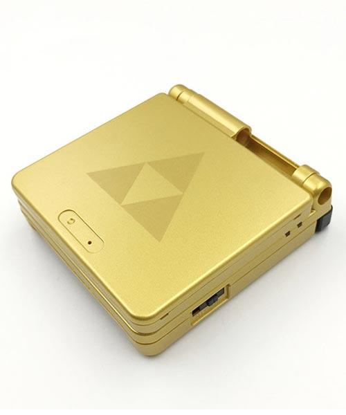 Game Boy Advance SP Housing Shell Replacement Service Zelda Gold Triforce