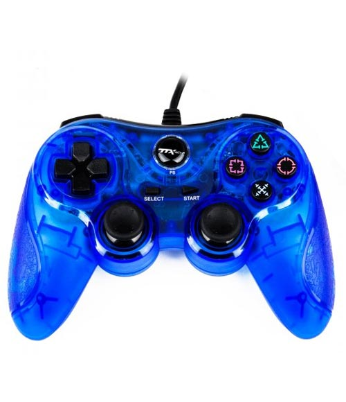 PlayStation 3 Wired Controller Clear Blue by TTX