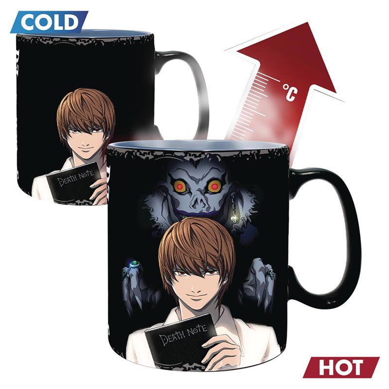 Death Note Light and L Heat Change Mug example