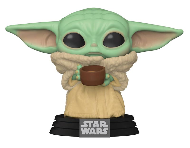 Pop Star Wars Mandalorian The Child with Cup Viny Fig out of box