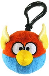 Angry Birds Space Blue Lightning Bird Plush Backpack Clip