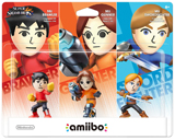amiibo Mii Fighter 3 Pack Super Smash Brothers Series