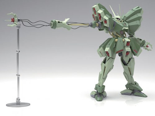 The Gundam ZZ AMX-103 Hamma-Hamma RE-100 Series Model Kit showing off its incredibly detailed wire claw weapon!